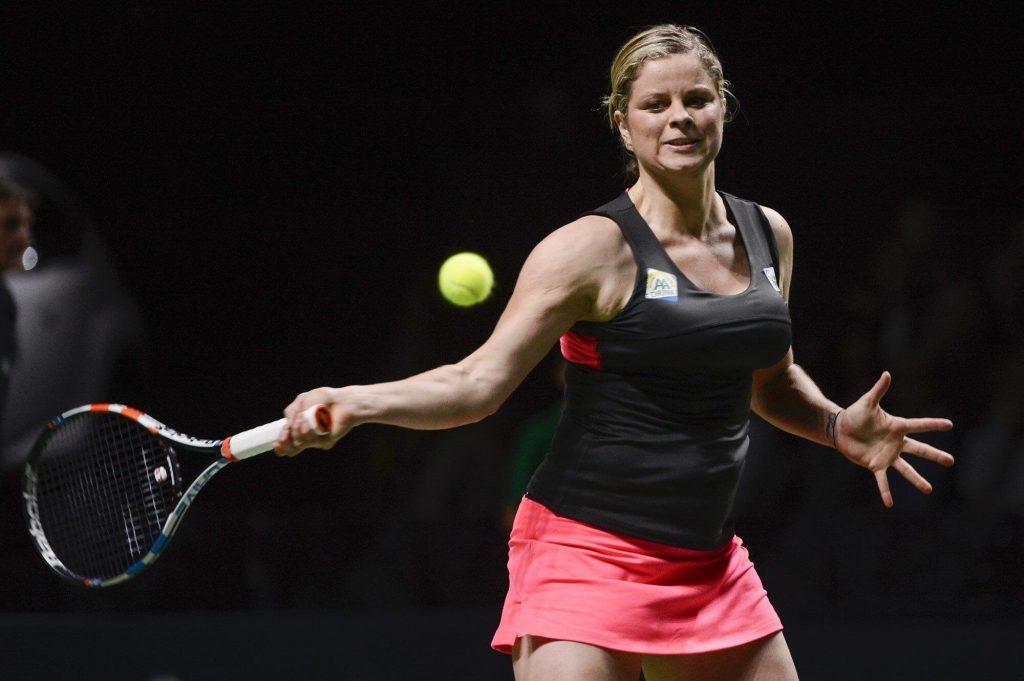 คิมไคลจ์สเตอร์ แร็คเก็ต นักเทนนิสสาวจาก เบลเยี่ยม โชว์ฟอร์มการเล่นอย่างโดดเด่ยในการกลับมาลงเล่นเทนนิส ดับเบิ้ลยู ทีเอ ทัวร์